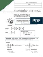 Tema 18 Simplificación de Fracciones