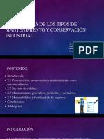 Taxonomia de Mantenimiento y Su Conservacion Industrial