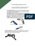 Herramientas Neumáticas Para Trabajos de Perforación o de Corte