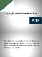 EXTINÇÃO DO CRÉDITO TRIBUTARIO