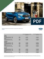 Noul Ford Ecosport Pricelist