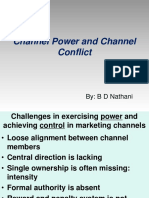 Channel Power and Conflicts
