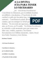 ORACION A LA DIVINA PROVIDENCIA PARA TENER SIEMPRE LO NECESARIO.pdf