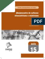Etnocentrismo e Relativismo Cultural