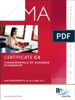 CIMA Certificate Paper C4 - Fundamentals Of Business Economics - Practice & Revision.pdf