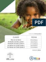 Clases Grupos Familiares Marzo 2018