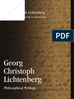 Lichtenberg, Georg Christoph; Tester, Steven Georg Christoph Lichtenberg Philosophical Writings