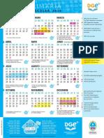Calendario Dge Primaria 2018