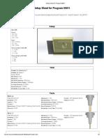 setup sheet for program 00011