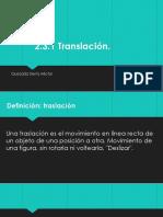2.3.1.Translacion
