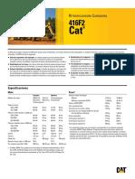 Retroexcavadora CAT 416F2