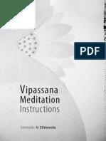 810. Vipassana Meditation Instructions - Venerable Ashin Silanandabhivamsa