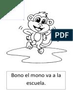 Bono El Mono Va a La Escuela