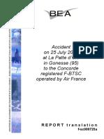 Concorde Accident Report