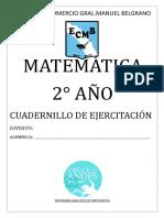 Cuadernillo de Matematica 2 ESO (2017)
