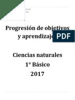 Objetivos de aprendizajes C. Naturales 1° Básico