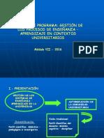Ejemplo de Programa de Enseñanza en El Contexto Universitario