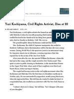 Yuri Kochiyama, Civil Rights Activist, Dies at 93 - NYTimes
