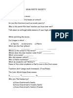 Movie Worksheet Dead Poet 39 s Society