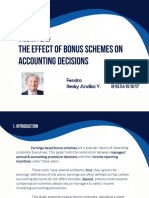 The effect of bonus schemes on accounting decisions