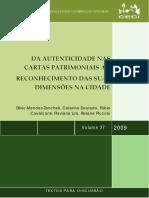 Da autenticidade nas Cartas Patrimoniais ao Reconhecimento das suas dimensões na Cidade.pdf