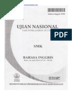 Naskah Soal UN Bahasa Inggris SMK 2014 Paket 1.pdf