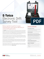 E-Totco Electronic Drift Survey Tool Flyer