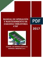 Manual de Instrucciones de Zaranda 4'x8'