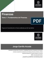 1.1. Fundamentos de Finanzas