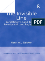 The Invisible Line Land Reform, Land Tenure Security and Land Registration (International Land Management Series)