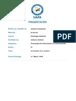 Actividades de La Unidad I - Tecnologia de La Informacion y Cominicacion - Copia