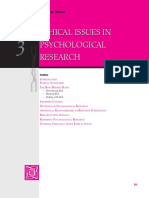 ETHICAL ISSUES IN PSY RESEARCH