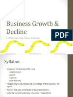 Bus Growth & Decline Stage of Business Cycle Presentation