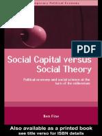 Social Capital vs Social Theory
