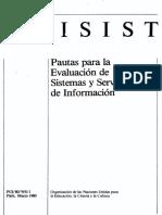 Pautas Para La Evaluacion de Sistemas y Servicios de Informacion