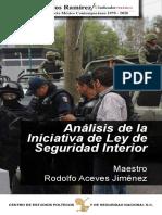 Libro-revista Analisis de la iniciativa de Ley de Seguridad Interior (México)