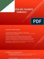 Gestión Del Talento Humano Dispositiva de Fundamentos