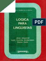 ALLWOOD, Jens Et Al. Logica Para Lingüistas