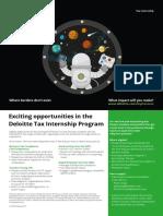 Deloitte Tax Internship Program