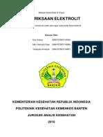 Pemeriksaan Elektrolit (Kimia Klinik III)