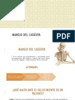 Manejo Del Cadáver