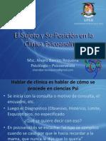El Sujeto y Su-suposicion en La Clinica Psicoanalitica