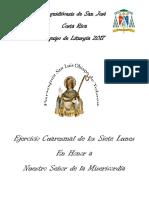 Ejercicio de Los 7 Lunes en Honor Al Señor de La Misericordia 2017