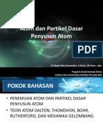 Pertemuan 3. Atom Dan Partikel Dasar Penyusun Atom