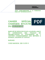 Csc Surveillance Et Supervision Des Travaux Cem Shanga Gisuriroet Gatete - Version a Publier