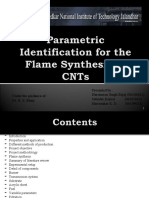 Parametric Synthesis for the Flame Synthesis of CNTs