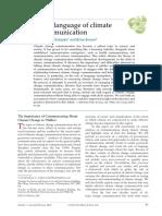 NERLICH, Brigitte; KOTEYKO, Nelya; BROWN, Brian. Theory and Language of Climate Change Communication. Wiley Interdisciplinary Reviews