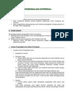12. Prosedur Pengendalian Internal