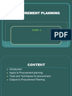 Topic 2 Procurement Planning