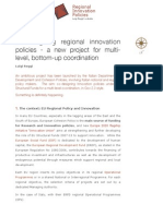Co-Designing Regional Innovation Policies - A New Project for Multi-level Coordination